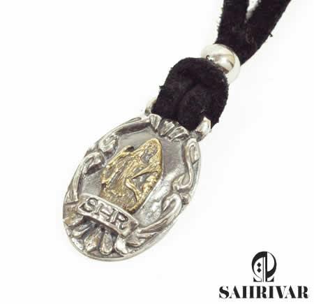 SAHRIVAR シャフリーバル SN14S10A シルバー ジーザス レザー ネックレス