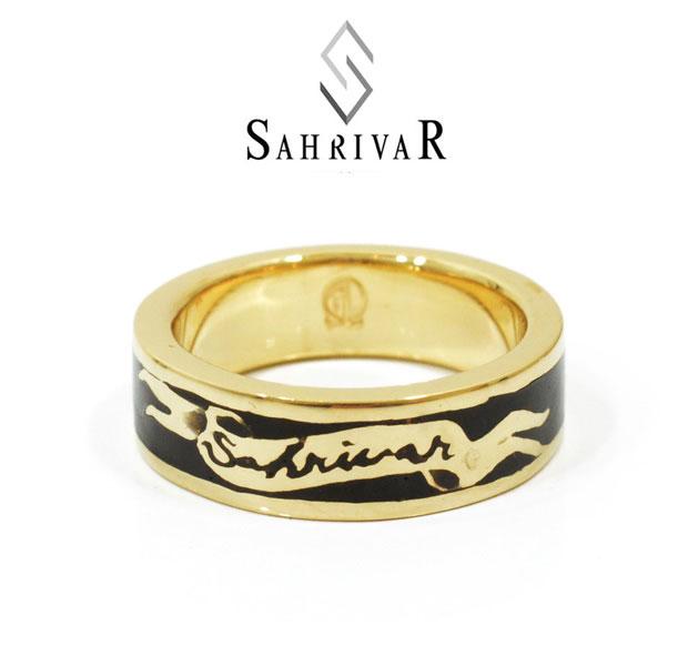 SAHRIVAR シャフリーバル SR50B14A Enameled Ring 真鍮 ブラック エナメル リング UVERworld TAKUYA∞ 着用