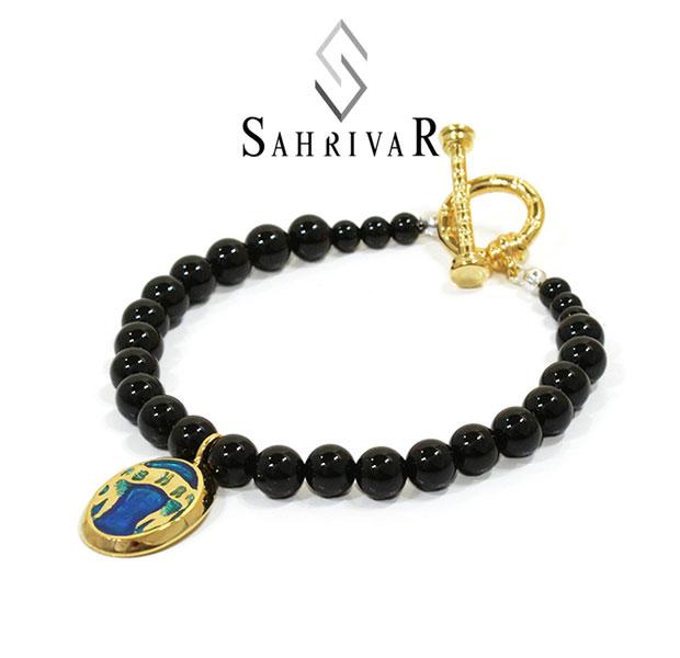 SAHRIVAR シャフリーバル SB52S16S Pradatory Bracelet BLUE Brass Onyx 真鍮 オニキス エナメル ブレスレット ブルー メンズ レディース