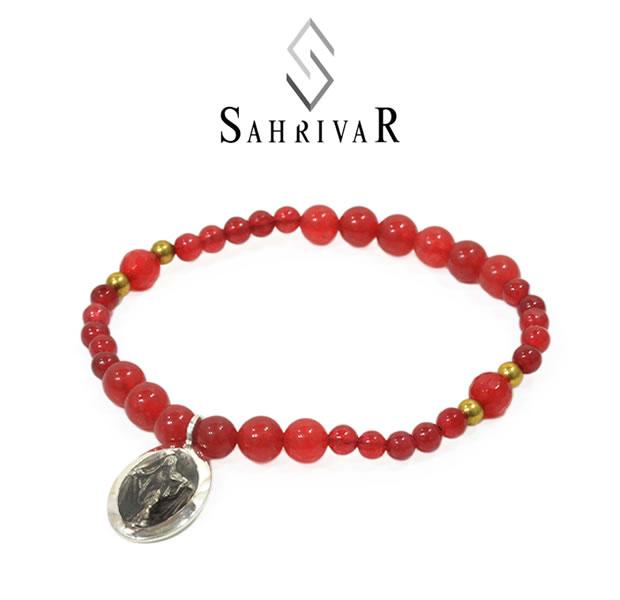 SAHRIVAR シャフリーバル SB60S17S Silver Maria Beads Bracelet/Red AgateSilver シルバー マリア レッド ブレスレット メンズ レディース