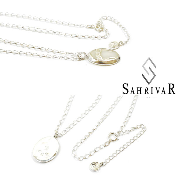 SAHRIVAR シャフリーバル SN68S14A Enarmeled Necklace シルバー エナメル ネックレス