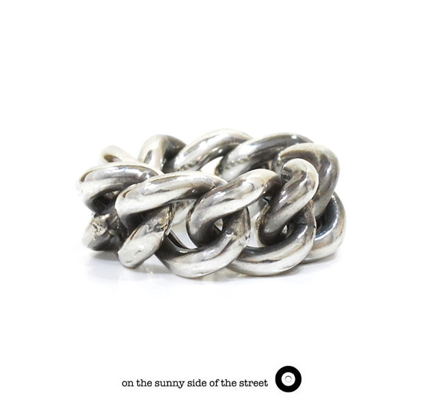 on the sunny side of the street オンザサニーサイドオブザストリート610-286 Silver Hollow Curb link Chain Ring シルバー チェーン リング メンズ レディース