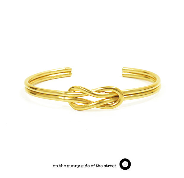 on the sunny side of the street オンザサニーサイドオブザストリート610-269 Gold Sailor Knot Bangle Silver シルバー Gold ゴールド バングル メンズ レディース