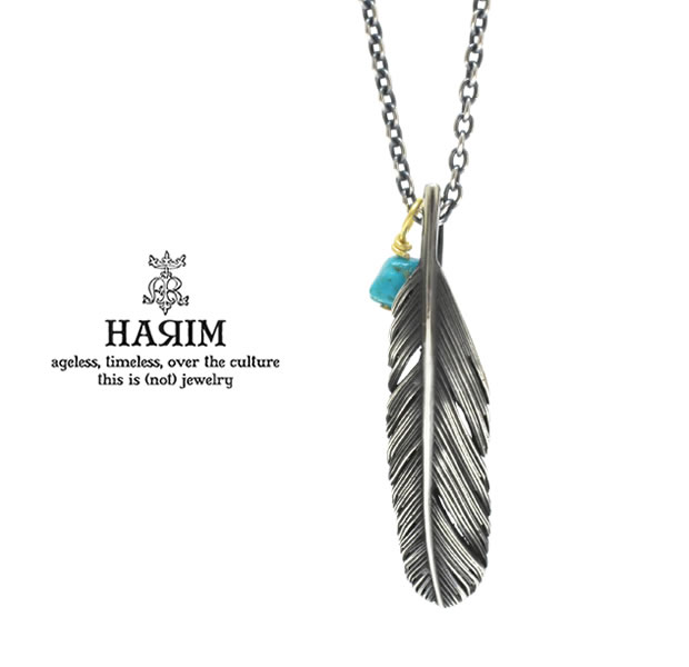 HARIM ハリム HRP121 OX Feather Necklace /S 【LEFT】Silver シルバー フェザー ネックレス メンズ レディース【あす楽対応】