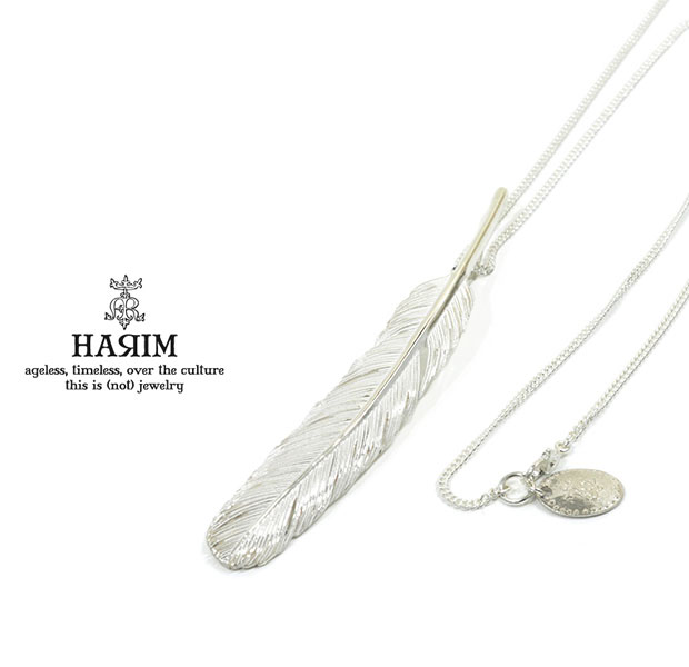 HARIM ハリム HRT003WH Feather Necklace /L 【RIGHT】Silver シルバー フェザー ネックレス メンズ レディース