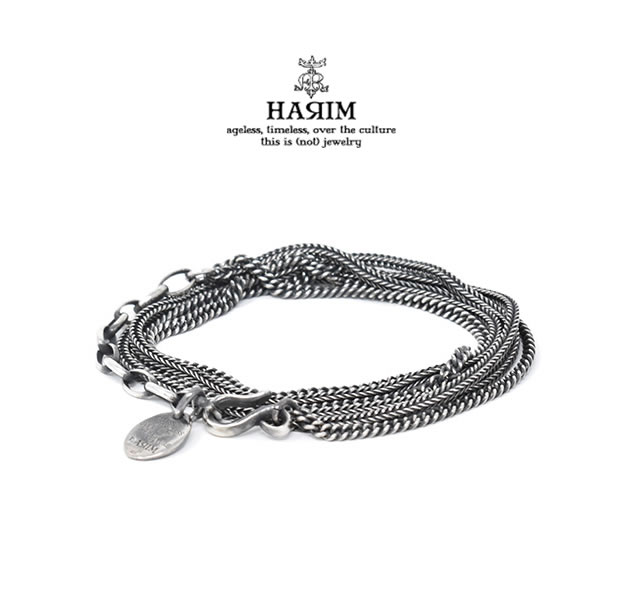HARIM ハリム HRC012 DOUBLE HERRINGBONE CHAINS NECK/BRACESilver シルバー シンプル ネックレス ブレス メンズ レディース【あす楽対応】