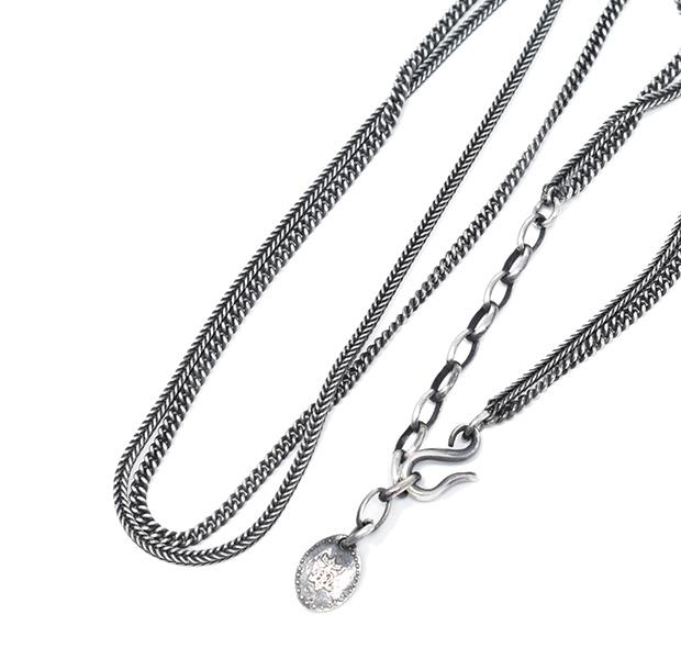 HARIM ハリム HRC012 DOUBLE HERRINGBONE CHAINS NECK/BRACESilver シルバー シンプル ネックレス ブレス メンズ レディース