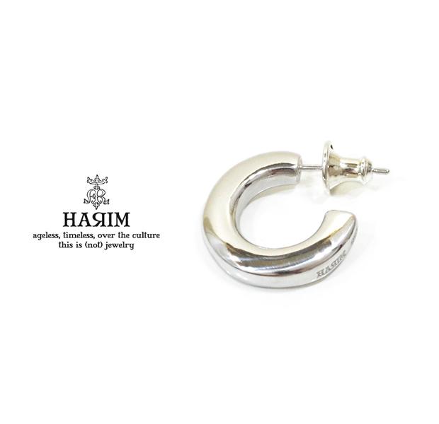 HARIM ハリム/HRA048 RP Good pierce/Lループ ピアス/Silver シルバー ロジウム コーティング
