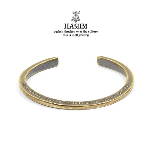 HARIM ハリム HRA052BR Stairway to Heaven Side Word CffBrass 真鍮 シンプル バングル レッド ツェッペリン メンズ レディース