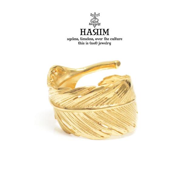 HARIM ハリム HRR040 GP Feather RingSilver シルバー K18 Gold ゴールド コーティング フェザー 羽 リング ネイティブ メンズ レディース