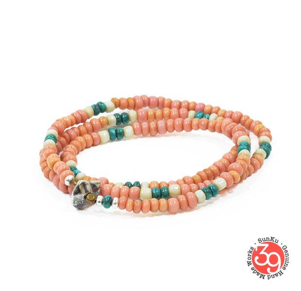 Sunku/39/サンクSK-090 Antique Beads Mix Necklace & Bracelet アンティークビーズブレスレットNecklace/ネックレスSilver925/シルバー/BRASS/真鍮アンティーク/ターコイズ/Turquoiseアクセサリー