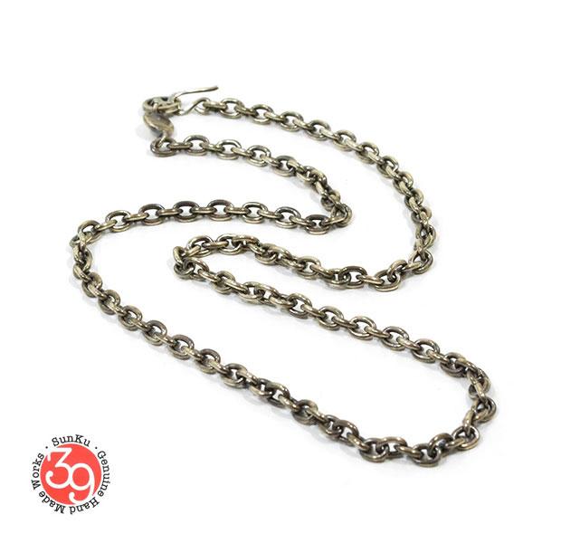 Sunku/39サンクSK-093 Oval Silver Chain(L) Necklace/ネックレスSilver925/シルバーアンティークメンズ/レディースアクセサリー
