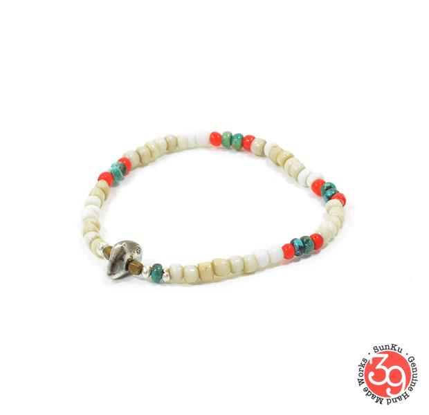 Sunku 39 サンク SK-147 Antique Beads Mix 1 Roll Bracelet アンティーク ビーズ ブレスレット