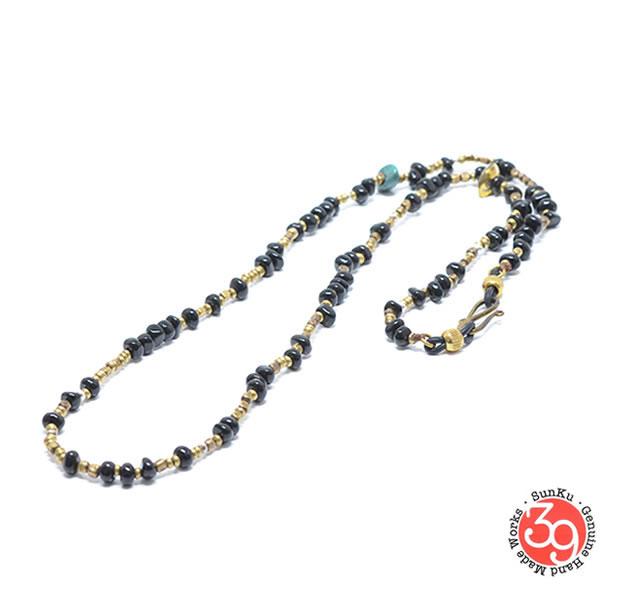 Sunku 39 サンクSK-065-ONX Turquoise Eyewear Holder アンティークビーズブレスレット Bracelet ブレスレットSilver925 シルバー BRASS 真鍮アンティーク/ターコイズ Turquoiseメンズ レディース