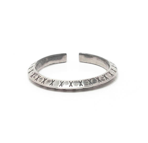 LAKUGAKI ラクガキ LA-018 RING / 2.5mm Silver シルバー シンプル リング メンズ レディース 【あす楽対応】
