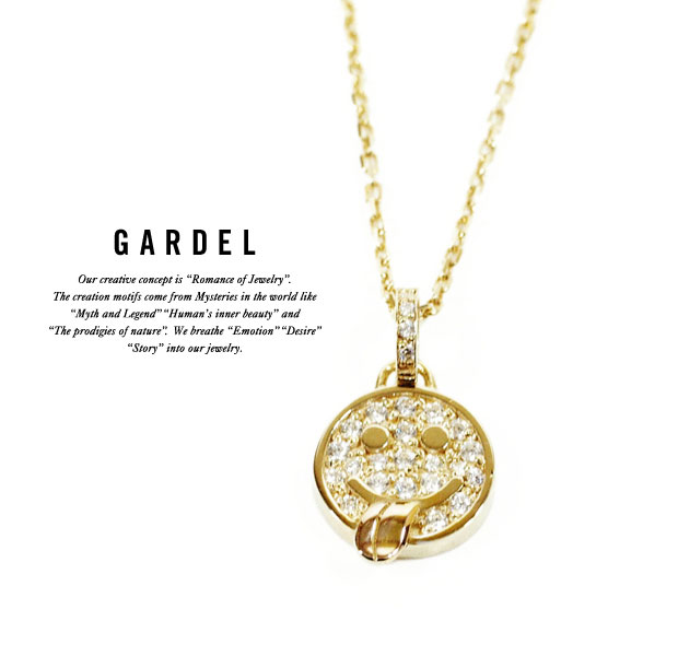 GARDEL ガーデル/GDP-084 K18YG KAKIA NECKLACE SMILE/スマイルNECKLACE/ネックレス/ゴールド/ジュエリー/アクセサリー