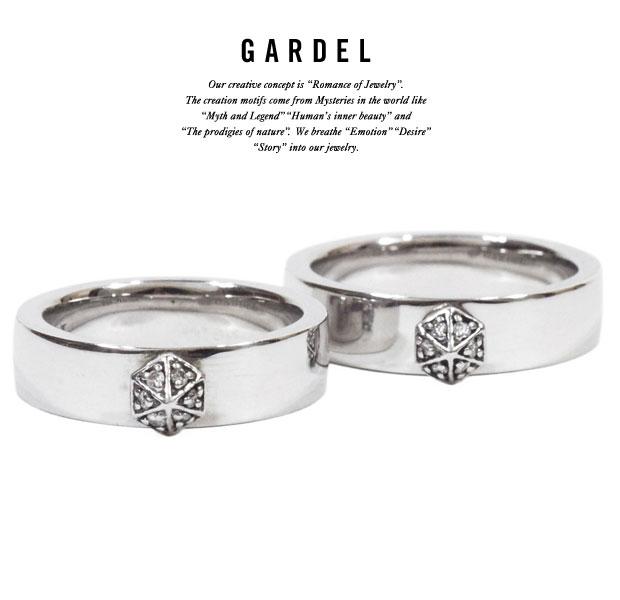GARDEL ガーデルgdr020ONE STUDS RINGsilver925/シルバー天然石/ダイヤモンドメンズ/レディース/ペアリング/アクセサリー