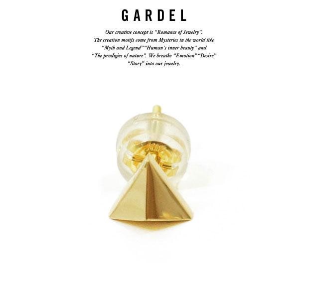 GARDEL ガーデル gde047 TRIANGLE PIERCEPIERCE/ピアスK18 GOLD/ゴールドメンズ/レディースアクセサリー/ジュエリー