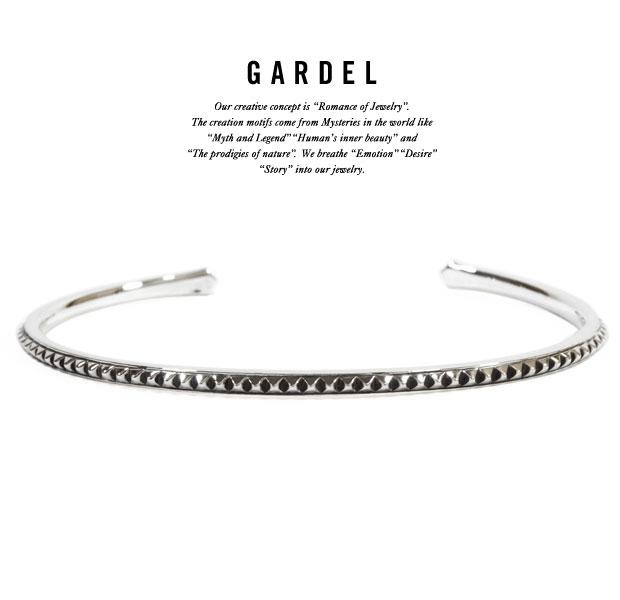 GARDEL ガーデルgdb044 TENER STUDS BANGLEBracelet/ブレスレット/バングルSilver925/シルバーシンプル/スタッズメンズ/レディース/アクセサリー
