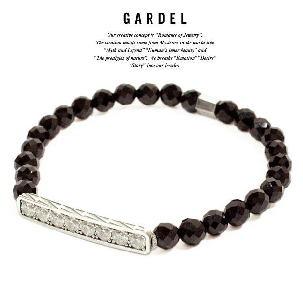 GARDEL ガーデルgdb024METEOR BRACELETブレスレット/braceletsilver925/シルバー天然石/オニキス/ジルコニアジュエリー/アクセサリー