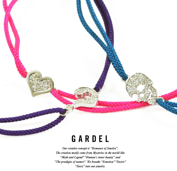 GARDEL ガーデルGDA001 Ankletスカル/ハートBRACELET/ブレスレット/アンクレットsilver925/シルバージルコニアスカル/SKULL/ハート/クエスチョンジュエリー/アクセサリー