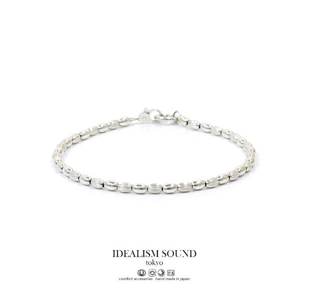 【idealism sound】 イデアリズムサウンド idealismsound No.15095 Silver Beads Braceletシルバー ビーズ ブレスレット メンズ レディース