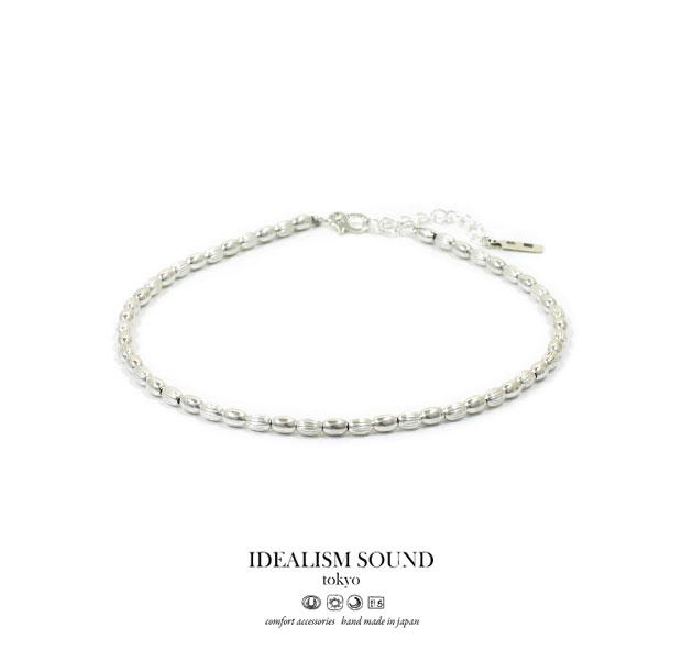 【idealism sound】 イデアリズムサウンド idealismsound No.15069 Silver Beads Ankletsilver シルバー ビーズ アンクレット