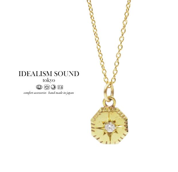 【idealism sound】 イデアリズムサウンド idealismsound No.14010 Diamond K10 Gold Necklace10金 ゴールド ダイヤ ネックレス メンズ レディース