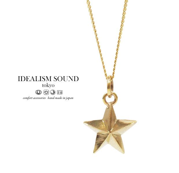 【idealism sound】 イデアリズムサウンド idealismsound No.14016 K10 Gold Necklace10金 ゴールド Star スター ネックレス メンズ レディース