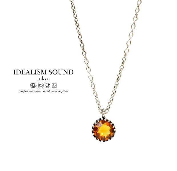 【idealism sound】 イデアリズムサウンド idealismsound No.12063Yellow Silver Necklaceシトリン シルバー ネックレス メンズ レディース