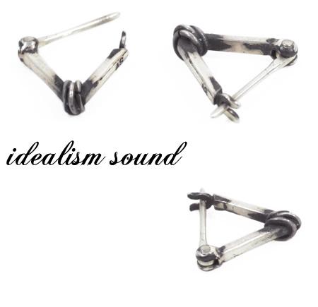 idealism soundイデアリズムサウンドidealismsound No 13092 シルバーピアスIf7Ygybv6