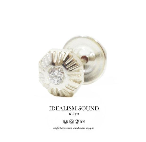【idealism sound】/イデアリズムサウンドidealismsound/No.14036 Diamond ピアス/Pierce天然石/ダイヤモンドハンドメイド/アンティーク/ネイティブメンズ/レディース/アクセサリーSILVER925/シルバー【あす楽対応】