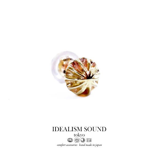 【idealism sound】/イデアリズムサウンドidealismsound/No.13017ピアス/Pierceハンドメイド/アンティークメンズ/レディース/アクセサリーK10/ゴールド