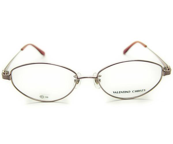 VALENTINO CHRISTY バレンチノクリスティ軽量チタニューム メタルフレーム 薄型度付きレンズセットメガネ VC621 ピンク 5980円メガネ 標準薄型1 55レンズ・ハードケース・クリーニングクロス付 軽量チタニュームフレーム 度付きメガネ にも最適 送料無料iOuZTkPX