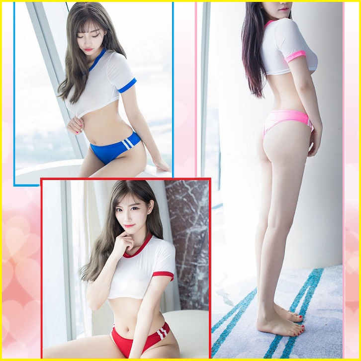 Sexy Hole Space Gym Suit High School Girl Bloomers Costume Play Halloween Ladys Costume