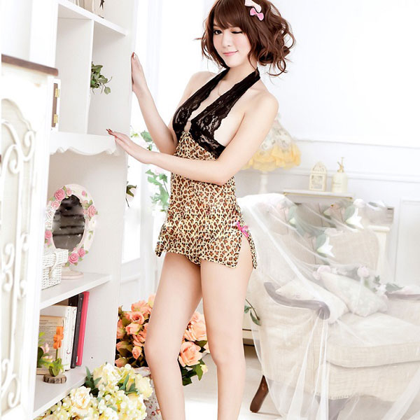 a2d11479b3 Leopard pattern sexy camisole dress costume play Halloween Lady s costume