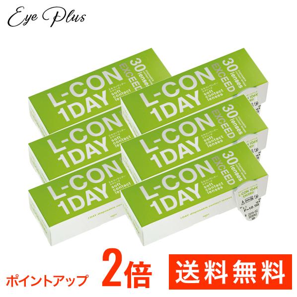 エルコンワンデーエクシード (30枚)6箱セット 【レターパックプラス送料無料】(エルコン ワンデー エクシード シンシア 1day)--