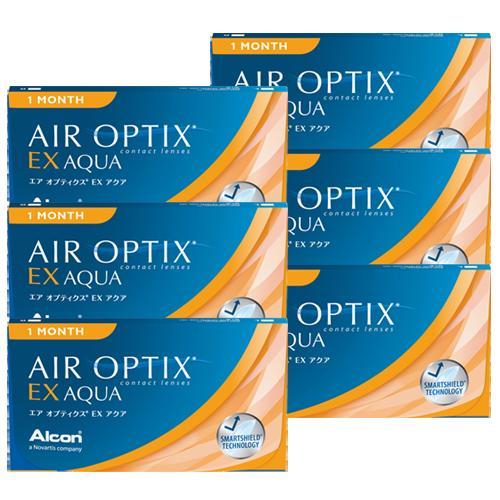 エアオプティクスEXアクア (3枚)6箱セット 【ゆうパケット送料無料】(エアオプティクス EXアクア アルコン 1ヶ月)--
