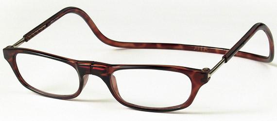 クリックリーダー レギュラー マグネット脱着式老眼鏡 定番から日本未入荷 2:ブラウン 限定品