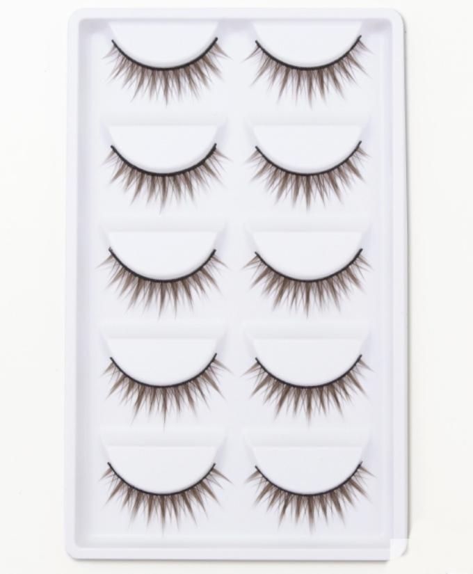 目元の印象チェンジ いよいよ人気ブランド 店 つけまつげブラウン 5個セット 送料無料 つけまつ毛 Z つけま アイラッシュ コスプレ eyelash