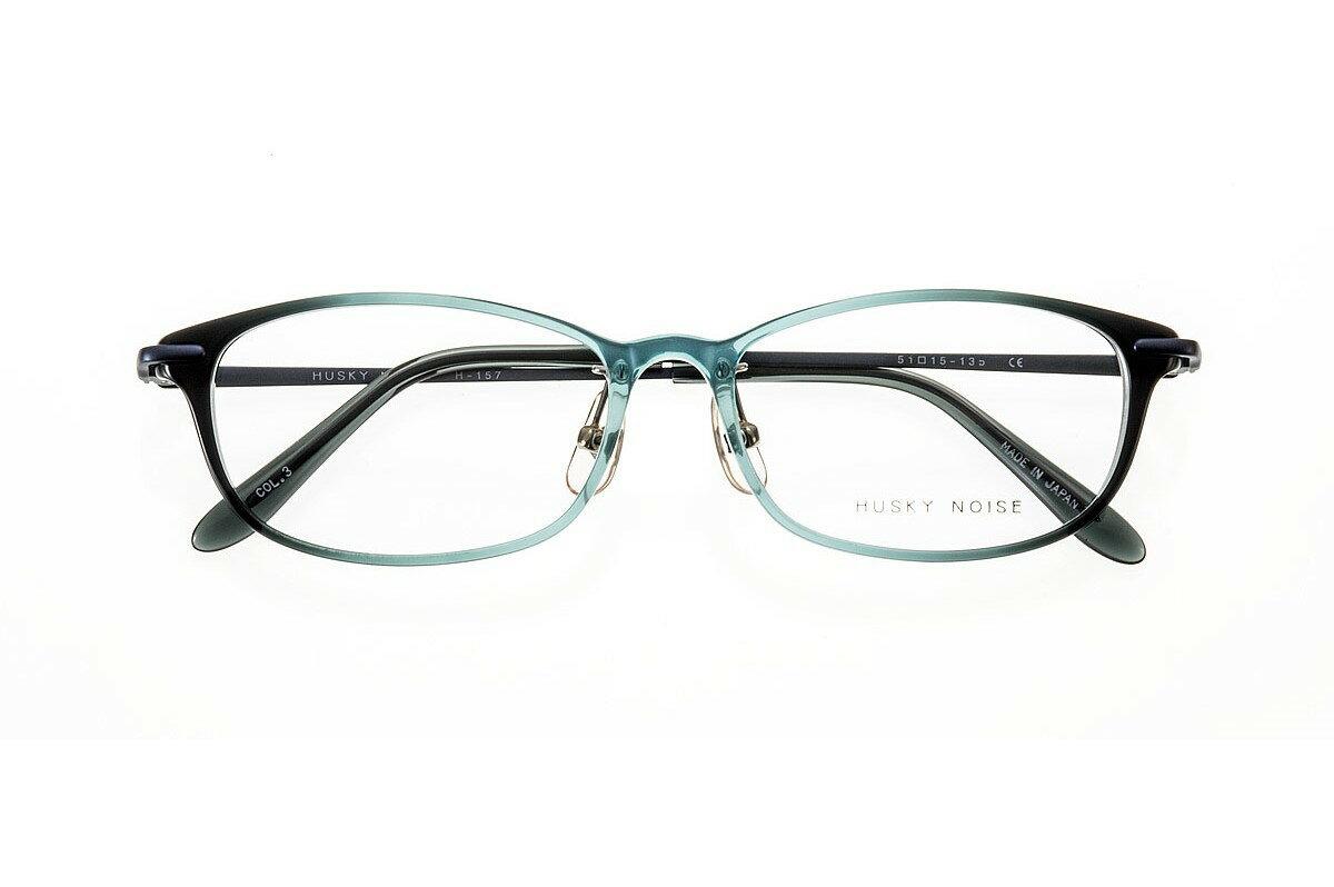 ハスキーノイズ HUSKY NOISE H-157 全色 メガネ フレーム 眼鏡 めがね 鯖江 日本製 国産 女性 軽い 軽量 メタル チタン βチタン ベータチタン オーバル スクエア ウェリントン