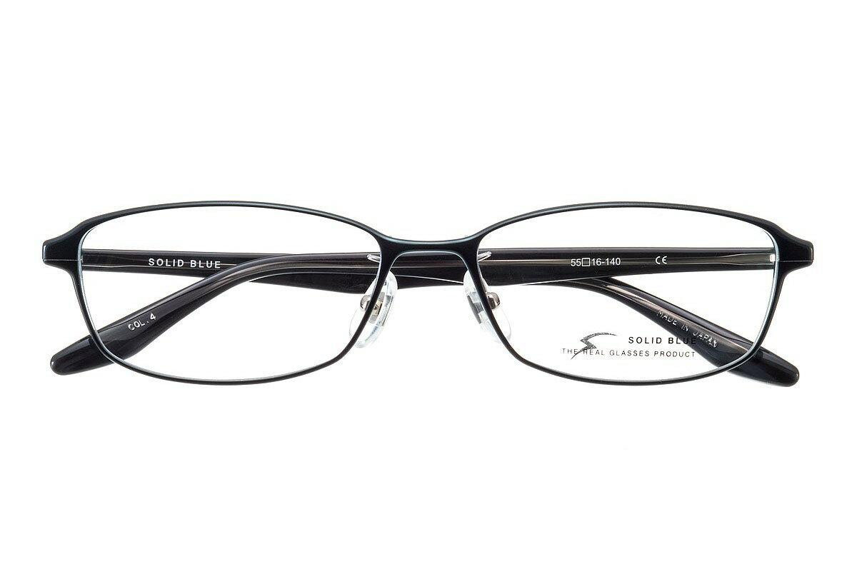 ソリッドブルー SOLID BLUE S-220 全色 メタル アルミニウム メガネ フレーム 眼鏡 めがね 日本製 国産 鯖江 スクエア 軽い 軽量 男 メンズ