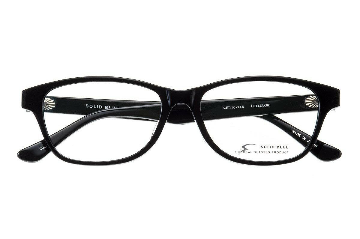 ソリッドブルー SOLID BLUE S-219 全色 セル メガネ フレーム 眼鏡 めがね 日本製 国産 鯖江 ウエリントン 軽い 軽量 男 メンズ