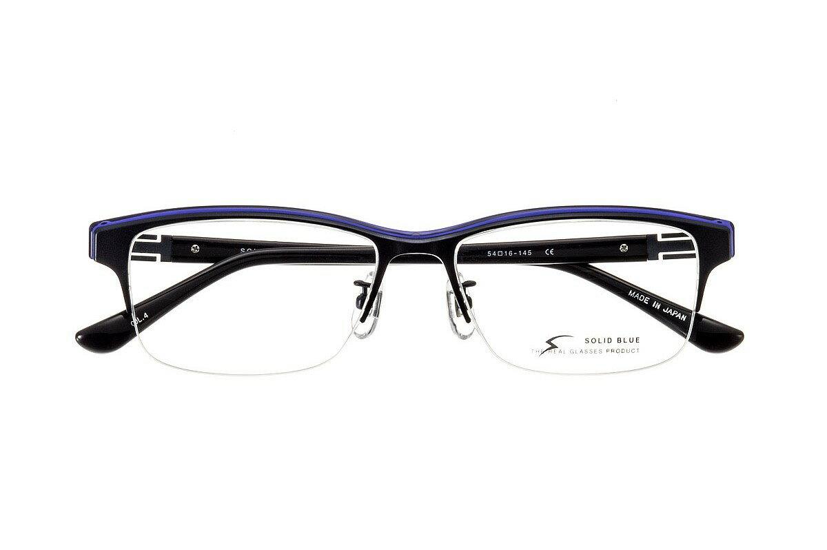 ソリッドブルー SOLID BLUE S-214 全色 ナイロール チタン メガネ フレーム 眼鏡 めがね ウエリントン 日本製 国産 鯖江 軽い 軽量 男 メンズ