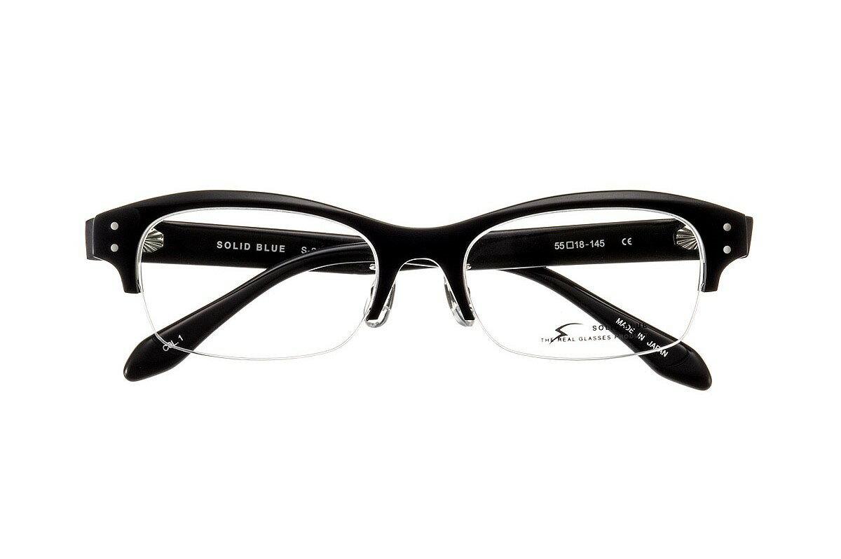ソリッドブルー SOLID BLUE S-212 全色 ナイロール セル チタン メガネ フレーム 眼鏡 めがね 日本製 国産 鯖江 ウエリントン 軽い 軽量 男 メンズ