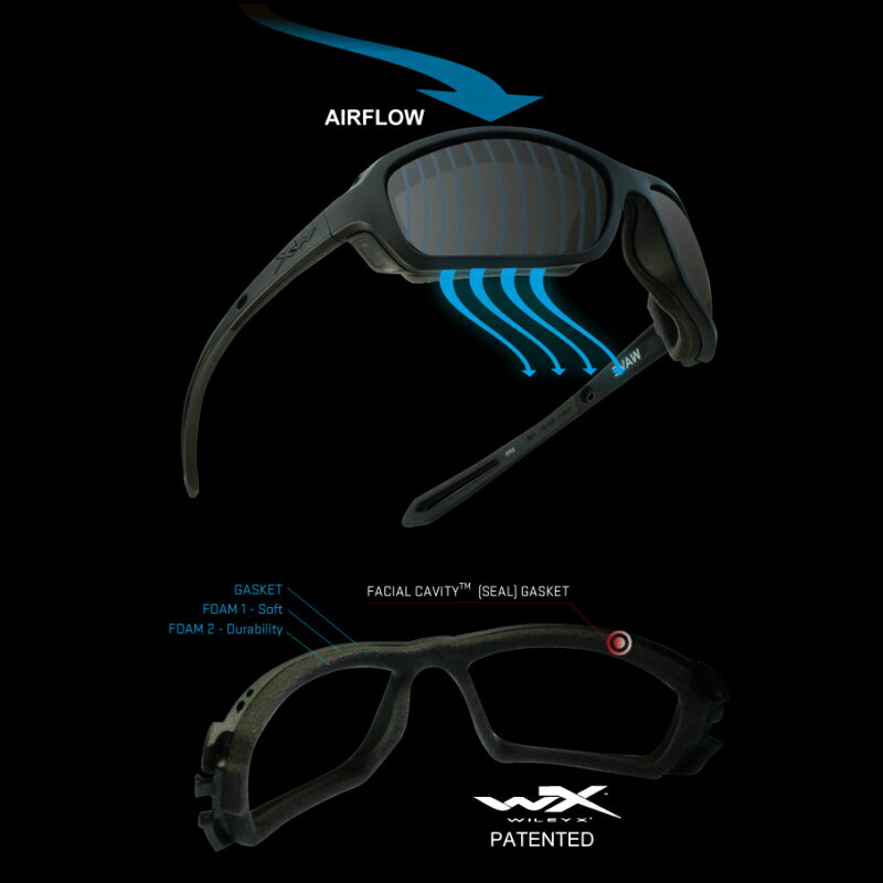 WILEY X (Wiley X) sunglasses WX WAVE WXJ-CCWAV01 U S  forces military  impact resistance motorcycle