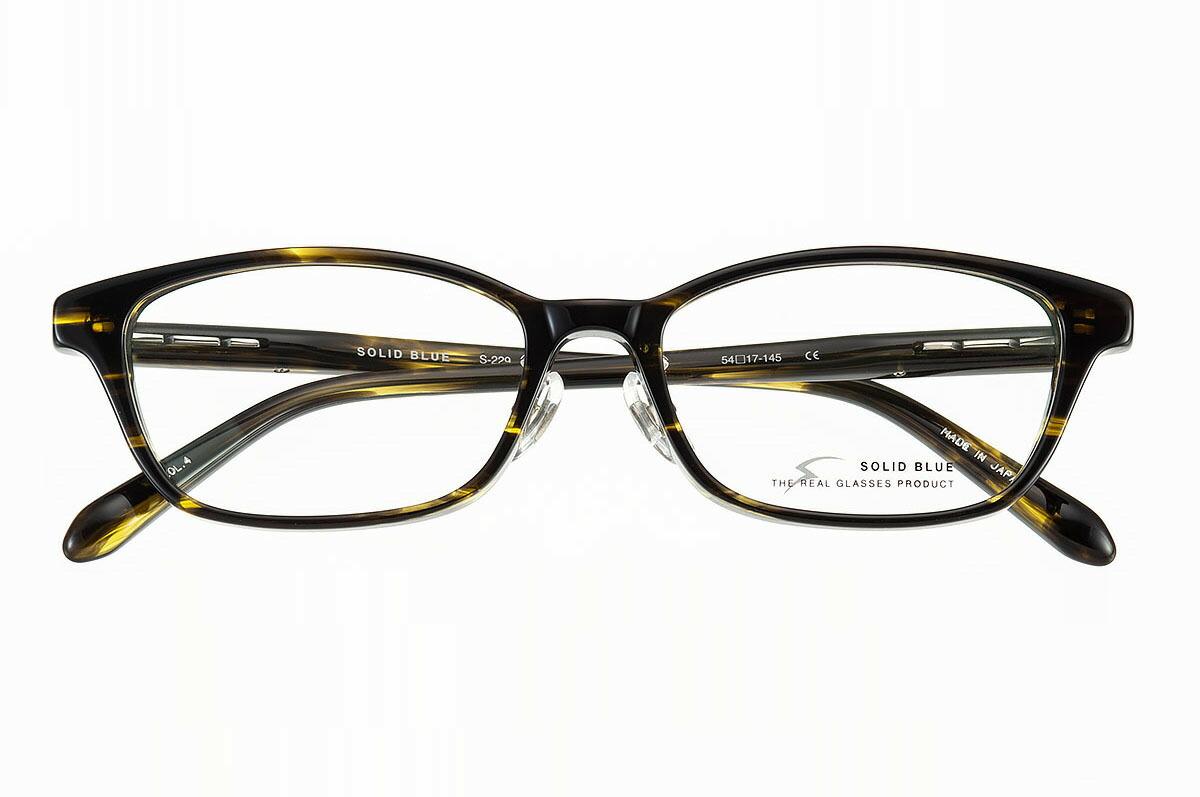 ソリッドブルー SOLID BLUE S-229 全色 セル メガネ フレーム 眼鏡 めがね 日本製 国産 鯖江 スクエア ウェリントン 軽い 軽量 男 メンズ 【送料無料】おしゃれ クラシック