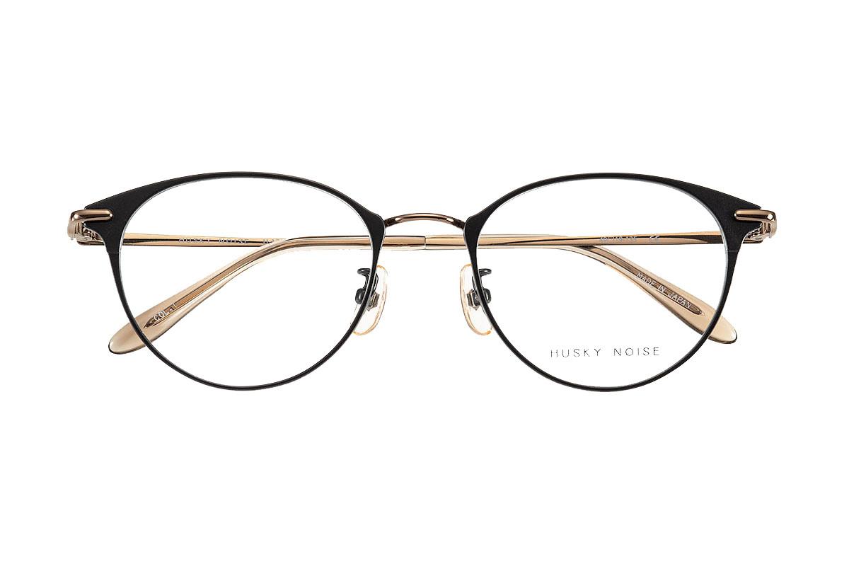 ハスキーノイズ HUSKY NOISE H-176 全色 メガネ フレーム 眼鏡 めがね 鯖江 日本製 国産 女性 軽い 軽量 メタル チタン ベータチタン プラスチック セル ボストン 丸い きれい おしゃれ かわいい 【送料無料】