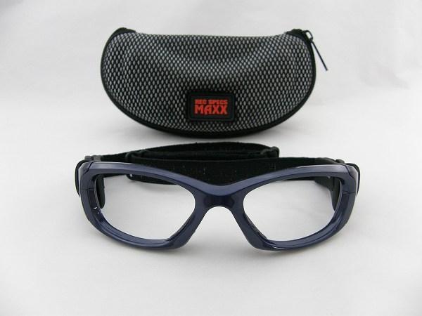 送料無料[REC SPECS] レックスペックス メガネフレーム MX31-SHNB-53 新品 ケース付 スポーツ 保護用 眼鏡 サッカー 正規品