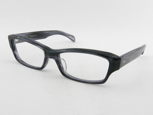 [越前國甚六作] 甚ノ六-5 メガネフレーム スクエア 灰色 グレー 伊達 度付き可 メンズ 紳士 男性 クール 国産 新品 ダテ 眼鏡 セルめがね シンプル シャープ 正規品